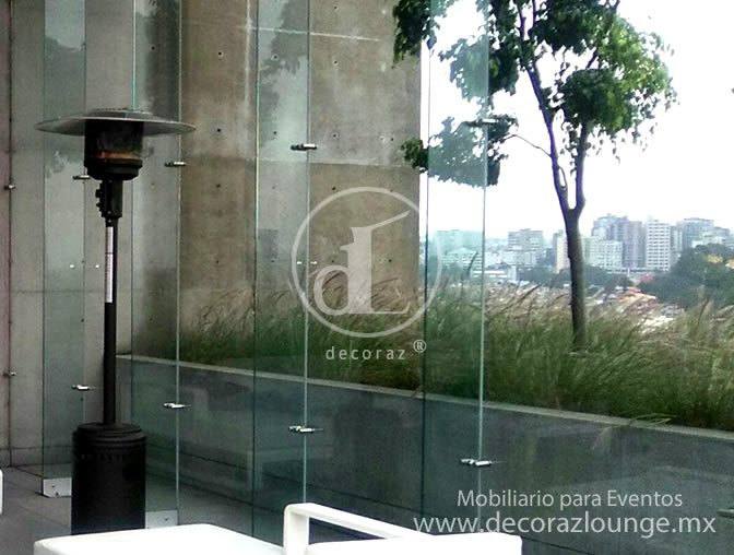 Renta de calentadores de gas para exteriores for Calentadores para jardin tipo hongo