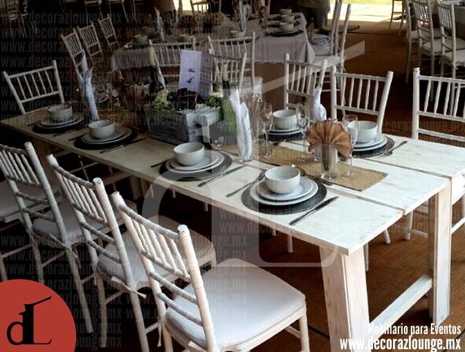 Mesas vintage de madera en renta y venta for Tablones de madera precios