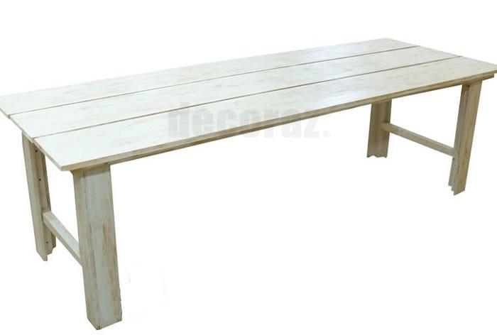 Renta de mesas vintage de madera para bodas y eventos salas lounge renta - Mesas de tablones de madera ...